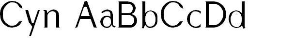 Preview image for Cyn Regular Font