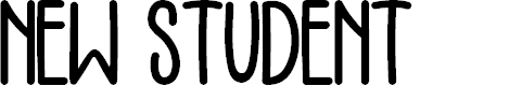Preview image for NEW STUDENT Font