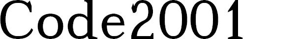 Preview image for Code2001 Font