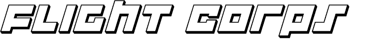 Preview image for Flight Corps 3D Italic