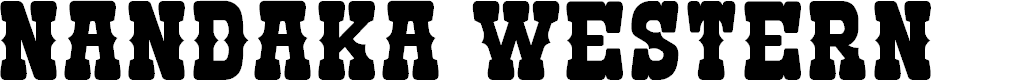 Preview image for Nandaka Western Font