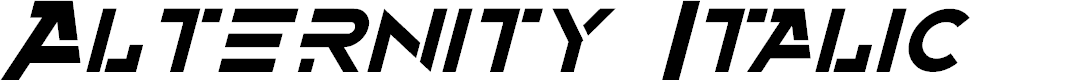 Preview image for Alternity Italic