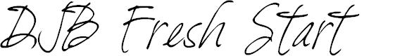 Preview image for DJB Fresh Start Font