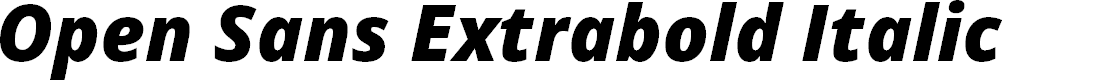 Preview image for Open Sans Extrabold Italic