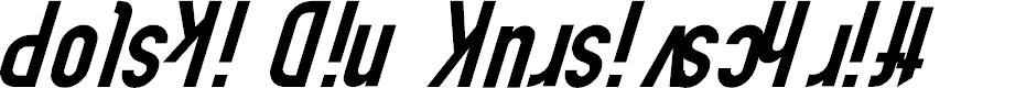 Preview image for Polski Din Kursivschrift Font