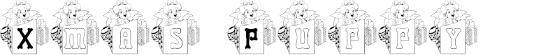 Preview image for BJF Xmas Puppy Font