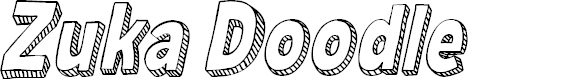 Preview image for Zuka Doodle Font