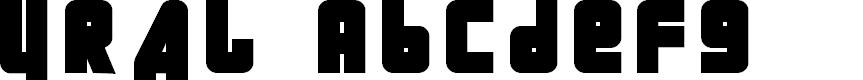 Preview image for URAL  Font