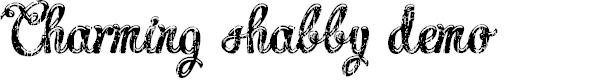 Preview image for Charming shabby demo Font