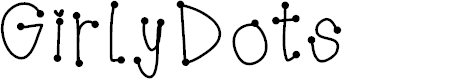 Preview image for GirlyDots Font