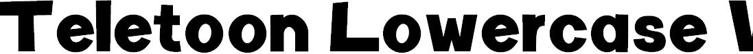 Preview image for Teletoon Lowercase V2 Font