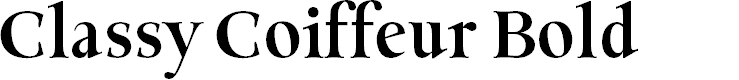Preview image for Classy Coiffeur Bold Font