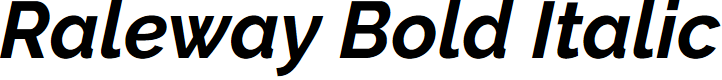 Preview image for Raleway Bold Italic