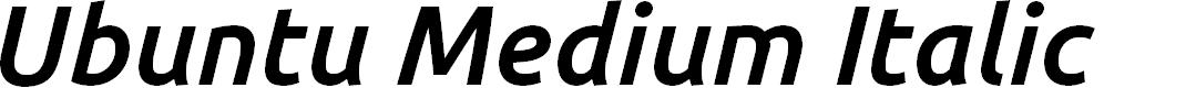 Preview image for Ubuntu Medium Italic