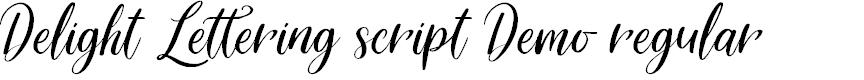 Preview image for Delight Lettering Script DEMO Regular Font