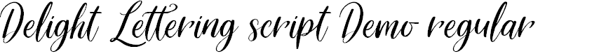 Preview image for Delight Lettering Script DEMO Regular Font