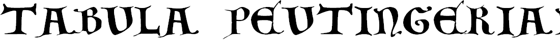 Preview image for Tabula Peutingeriana - Capitel Bold Italic