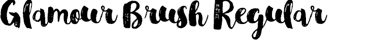 Preview image for Glamour Brush Regular Font