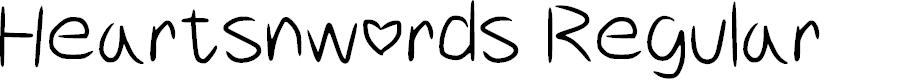 Preview image for Heartsnwords Regular Font