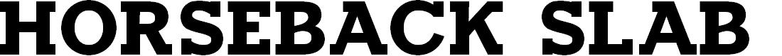 Preview image for Horseback Slab Bold Font