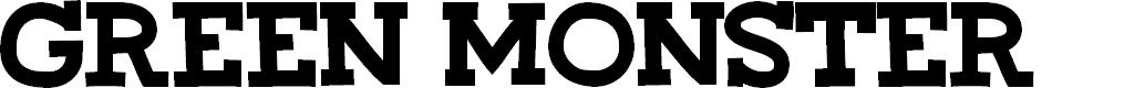 Preview image for CF Green Monster Regular Font