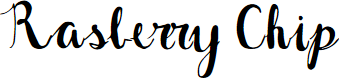 Preview image for Rasberry Chip Font