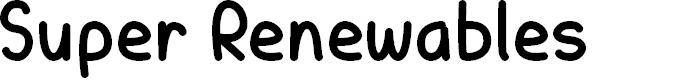 Preview image for Super Renewables Font
