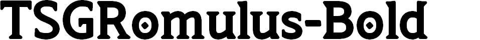 Preview image for TSGRomulus-Bold Font