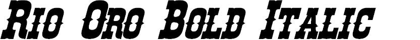 Preview image for Rio Oro Bold Italic