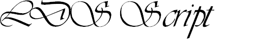 Preview image for LDS Script Italic
