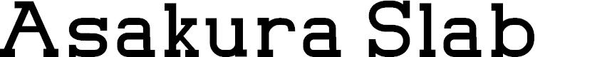 Preview image for Asakura Slab Font