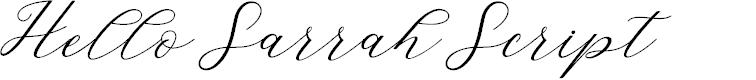 Preview image for HelloSarrahScript Font