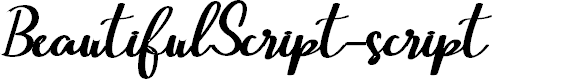 Preview image for BeautifulScript-script Font