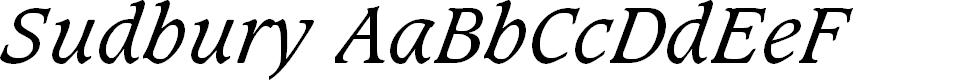 Preview image for Sudbury Book Italic