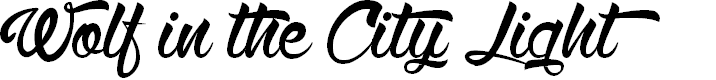 Preview image for Wolf in the City Light Font