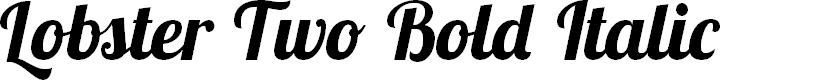 Preview image for Lobster Two Bold Italic