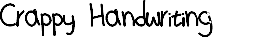 Preview image for MD's Crappy Handwriting Font