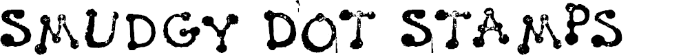 Preview image for Smudgy Dot Stamps Font