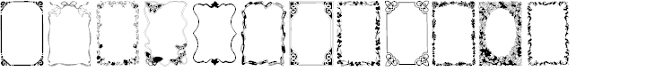 Preview image for Frames1 Normal Font
