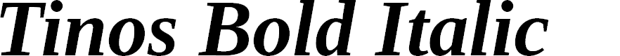 Preview image for Tinos Bold Italic