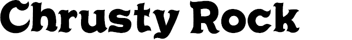 Preview image for Chrusty Rock Font