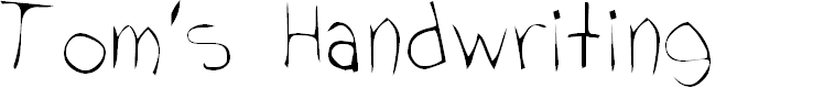 Preview image for Tom's Handwriting Font