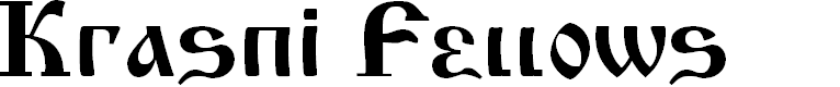 Preview image for Krasni Fellows Font