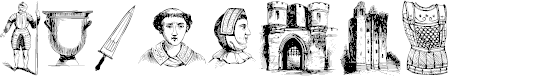 Preview image for the middle ages I Font