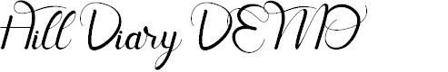 Preview image for Hill Diary DEMO Font