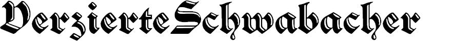 Preview image for VerzierteSchwabacher Font