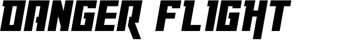 Preview image for Danger Flight Italic Font