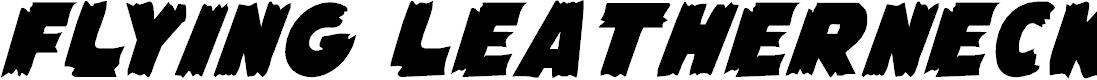 Preview image for Flying Leatherneck Font