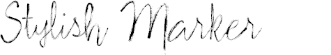 Preview image for Stylish Marker Font