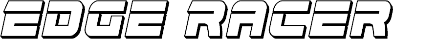 Preview image for Edge Racer 3D Italic